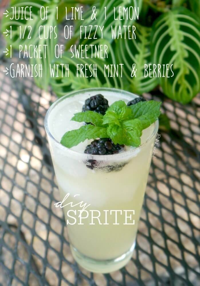 9. DIY Lemon Lime Sprite
