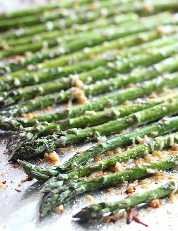 9. Garlic Parmesan Roasted Asparagus