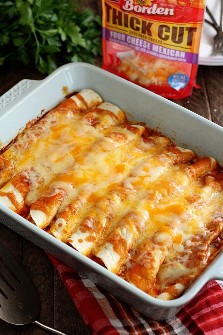 #1 5-Ingredient Beef Enchiladas