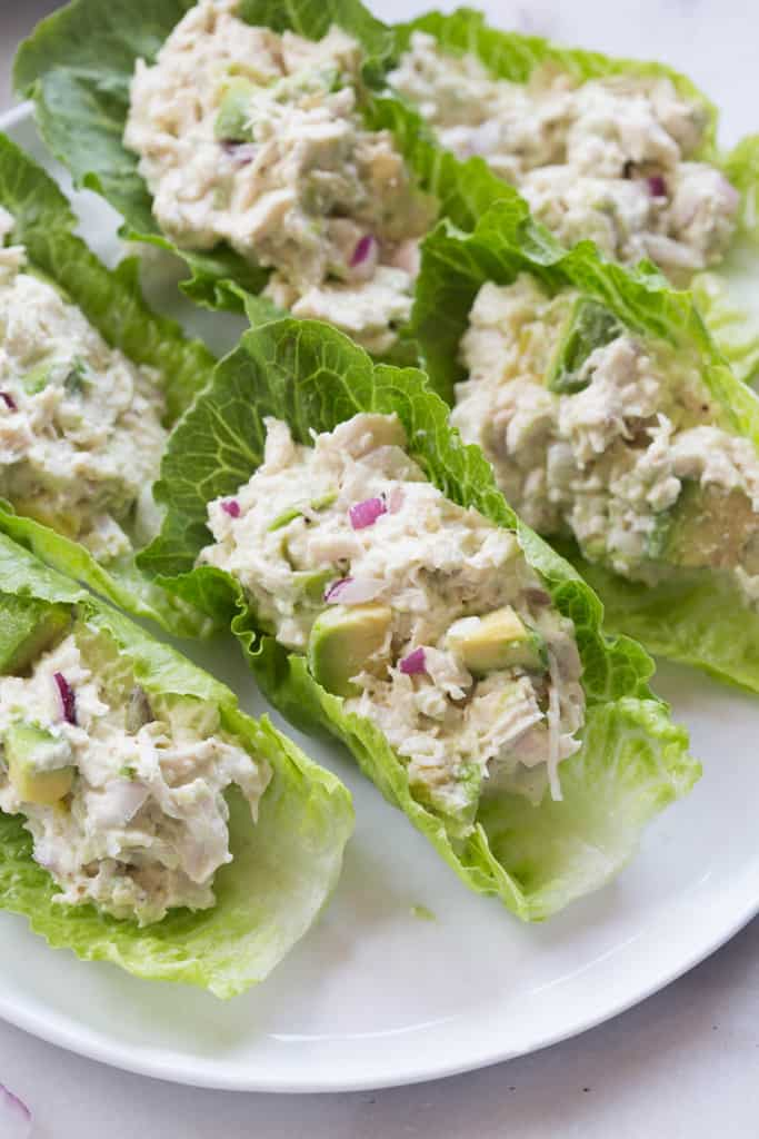 #1 Avocado Chicken Salad Wraps