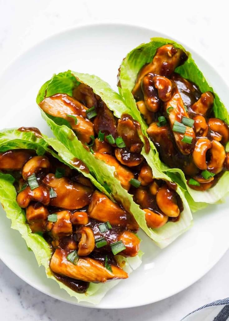 #1 Cashew Chicken Lettuce Wraps