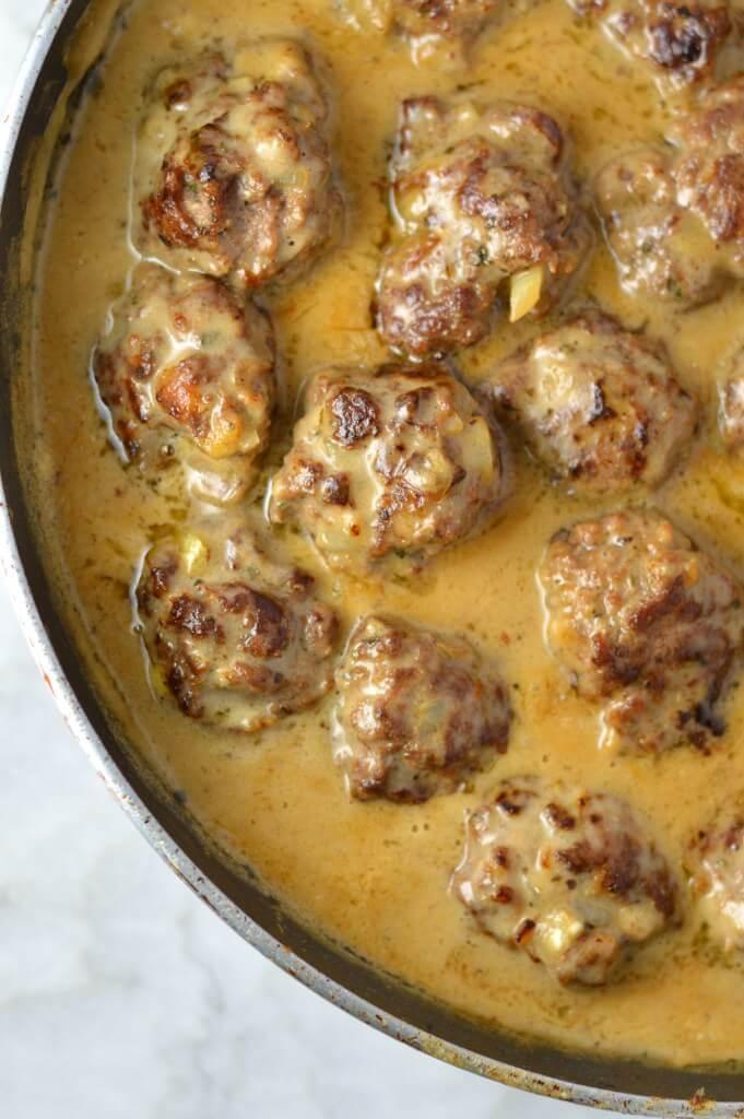 #1 Easy Meatballs in Dijon Gravy