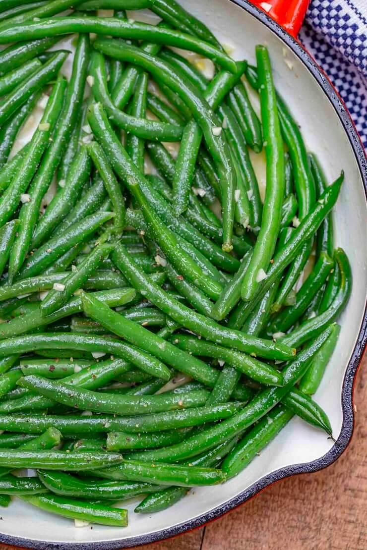 #1 Garlic Butter Sautéed Green Beans