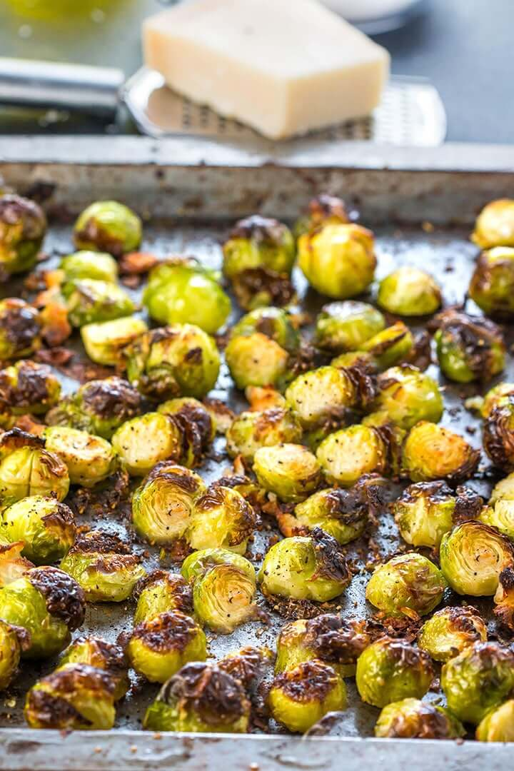 #1 Garlic Parmesan Roasted Brussel Sprouts