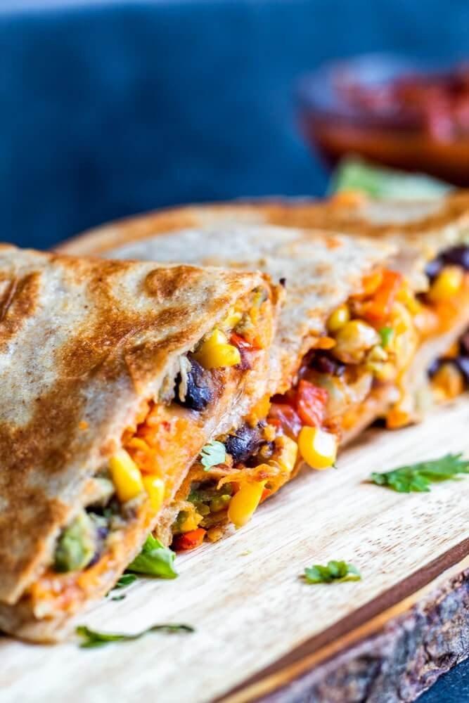 1 Mexican Vegetarian Quesadillas