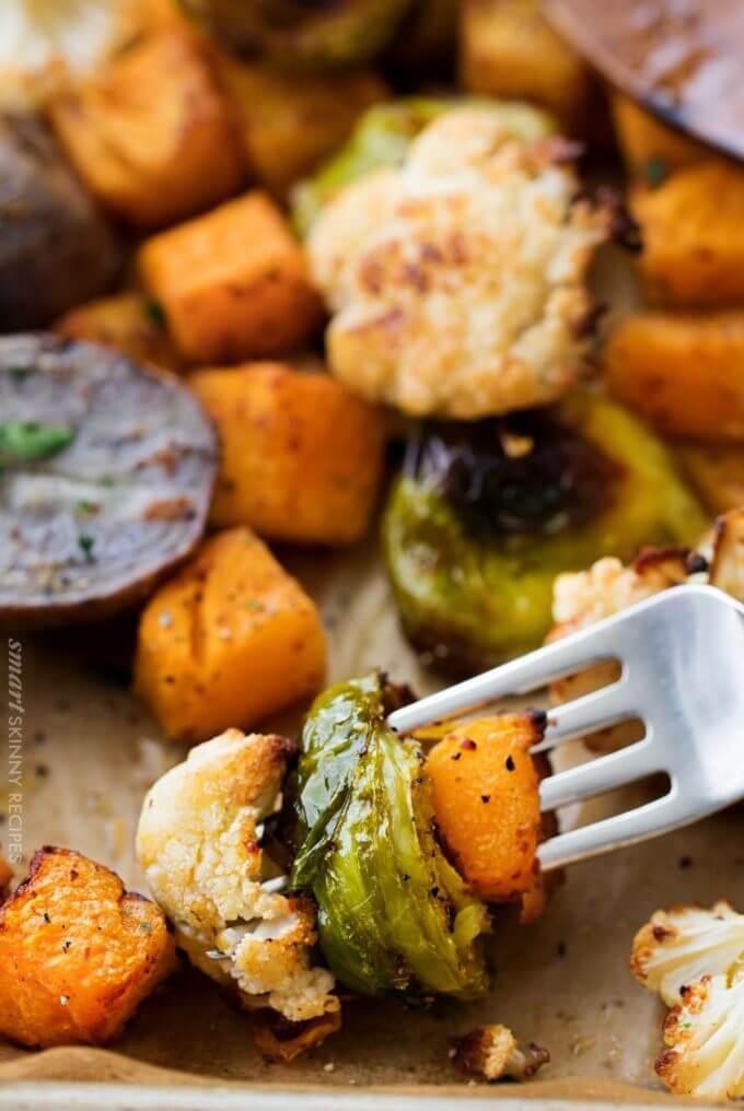 #1 Sheet Pan Mustard Roasted Veggies