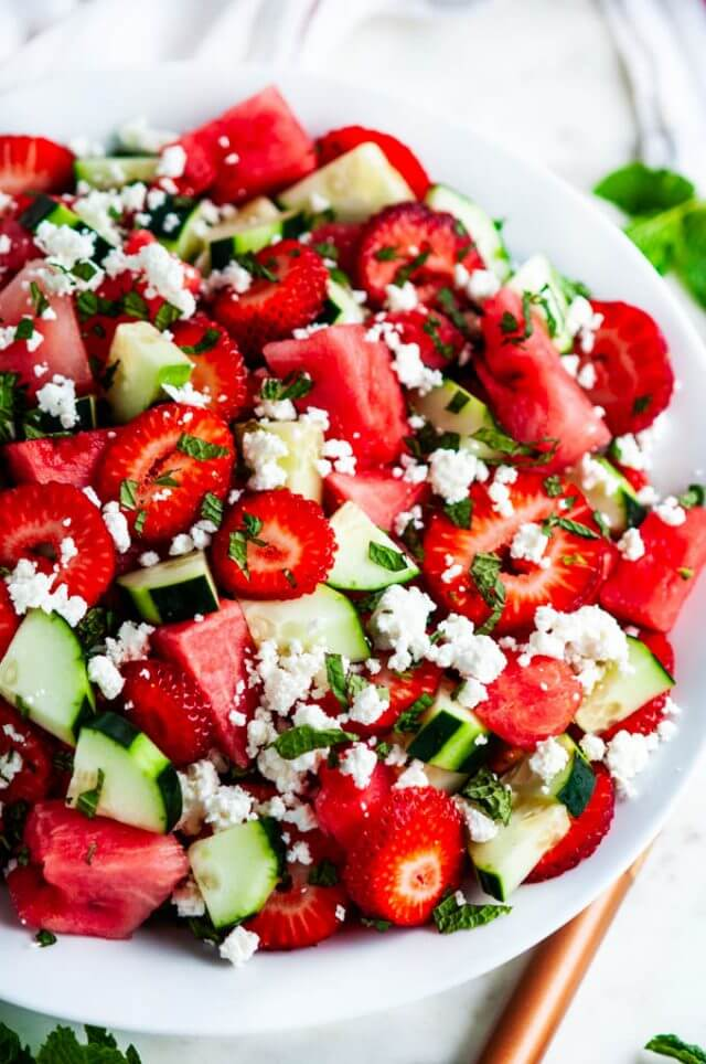 1 Strawberry Cucumber Salad