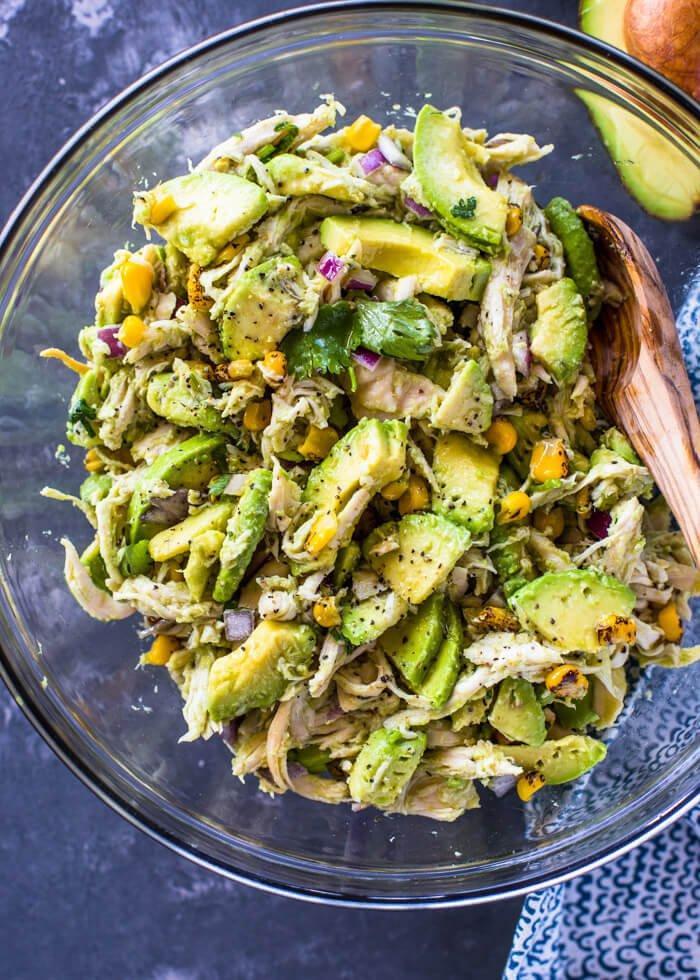 1. Avocado Chicken Salad