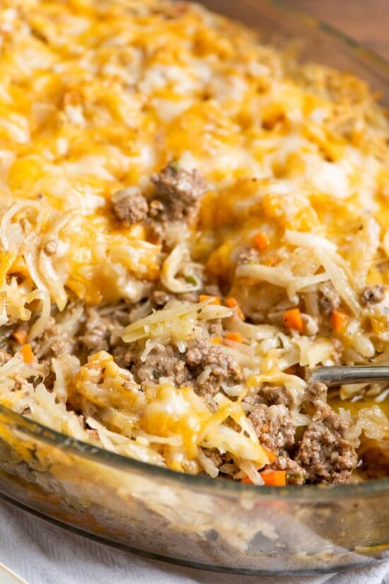 #10 Cheesy Beef and Hash Brown Casserole