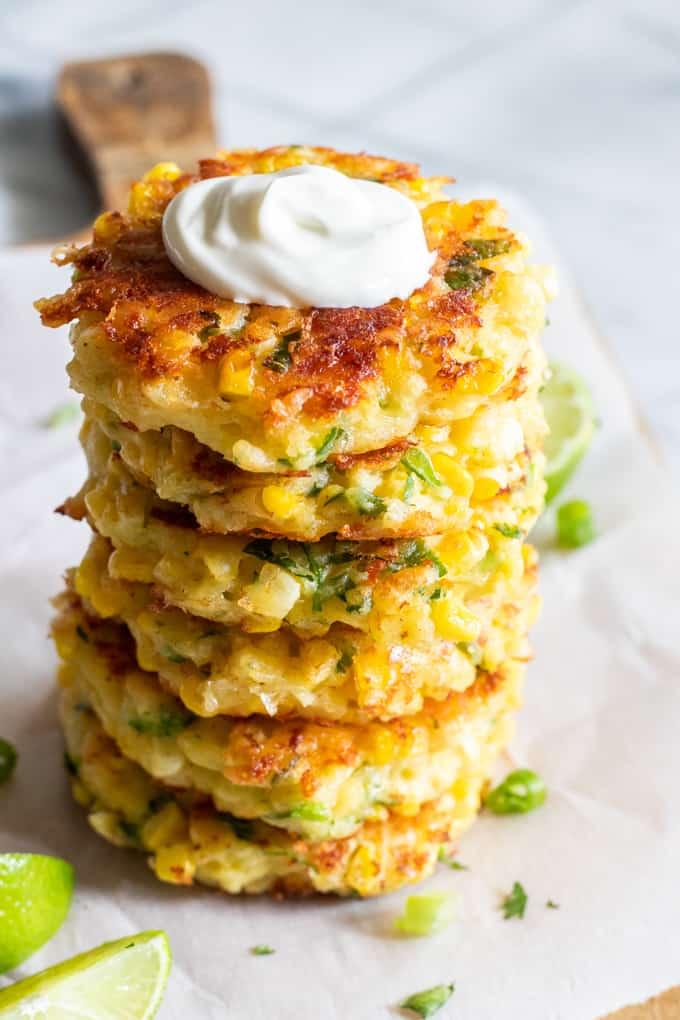 #10 Cheesy Corn Fritters.