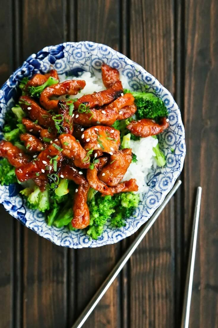 #10 Garlic and Ginger Sticky Glazed Pork Stir Fry