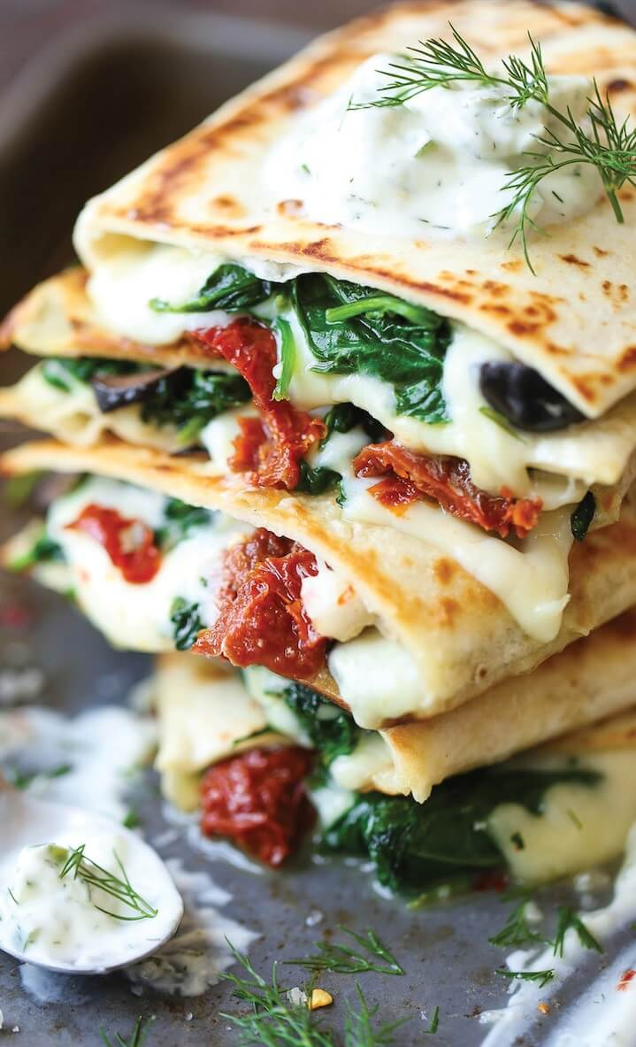 10 Greek Quesadillas