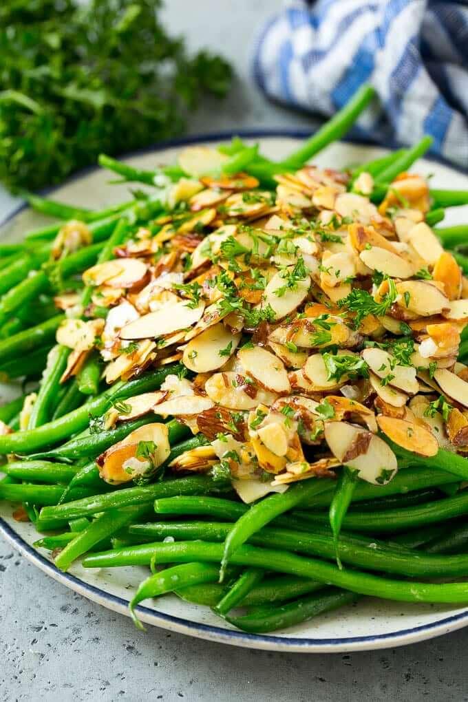 #10 Green Beans Almondine
