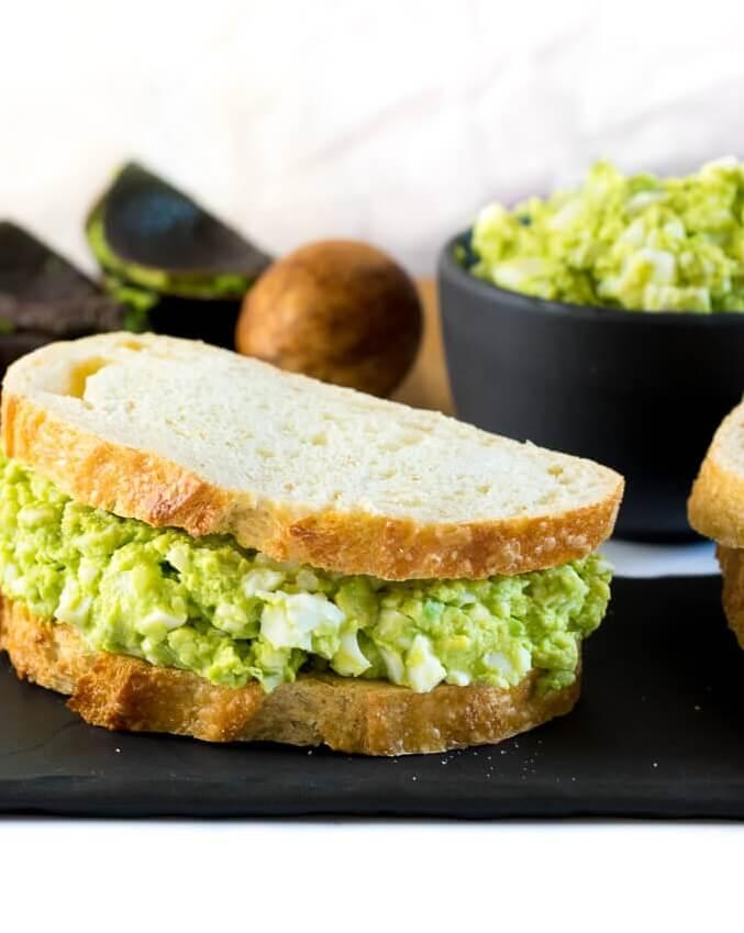 #10 Healthy Avocado Egg Salad