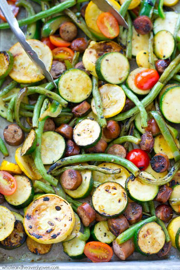 10 Marinated Grilled Veggie and Summer Sausages