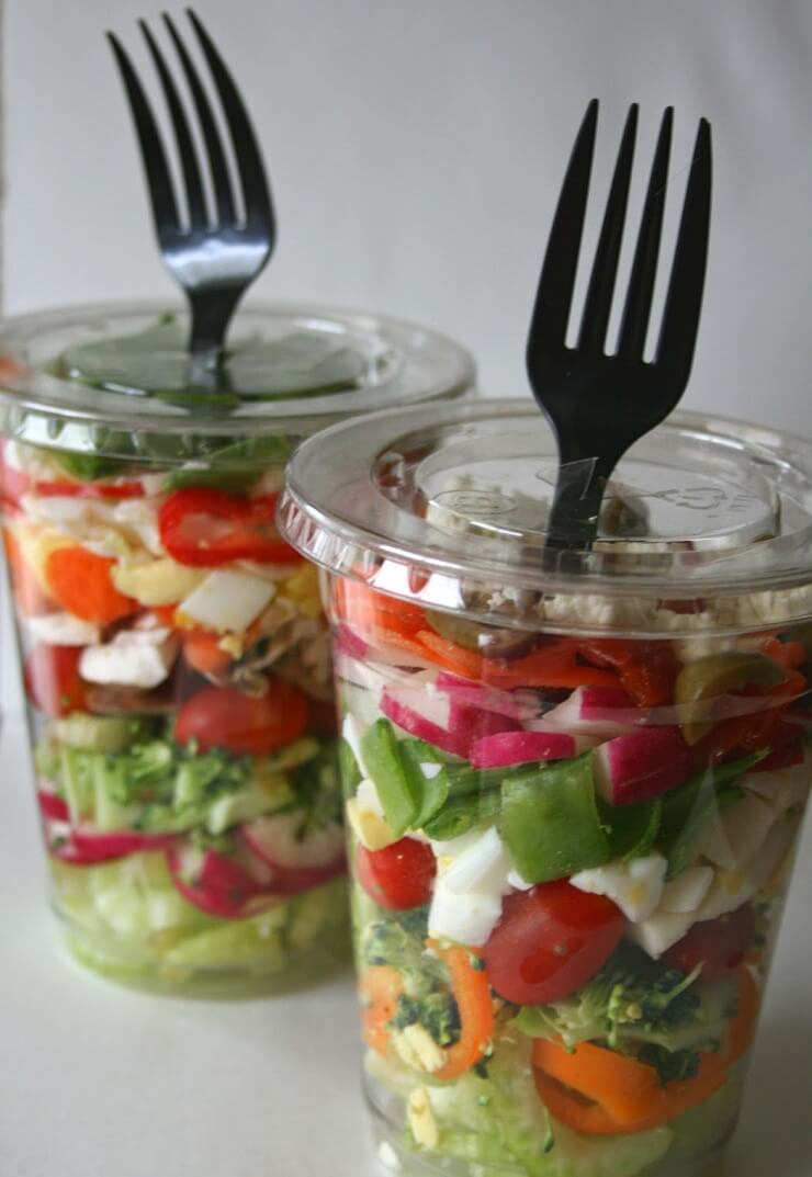 10. Chopped Salad in Cup