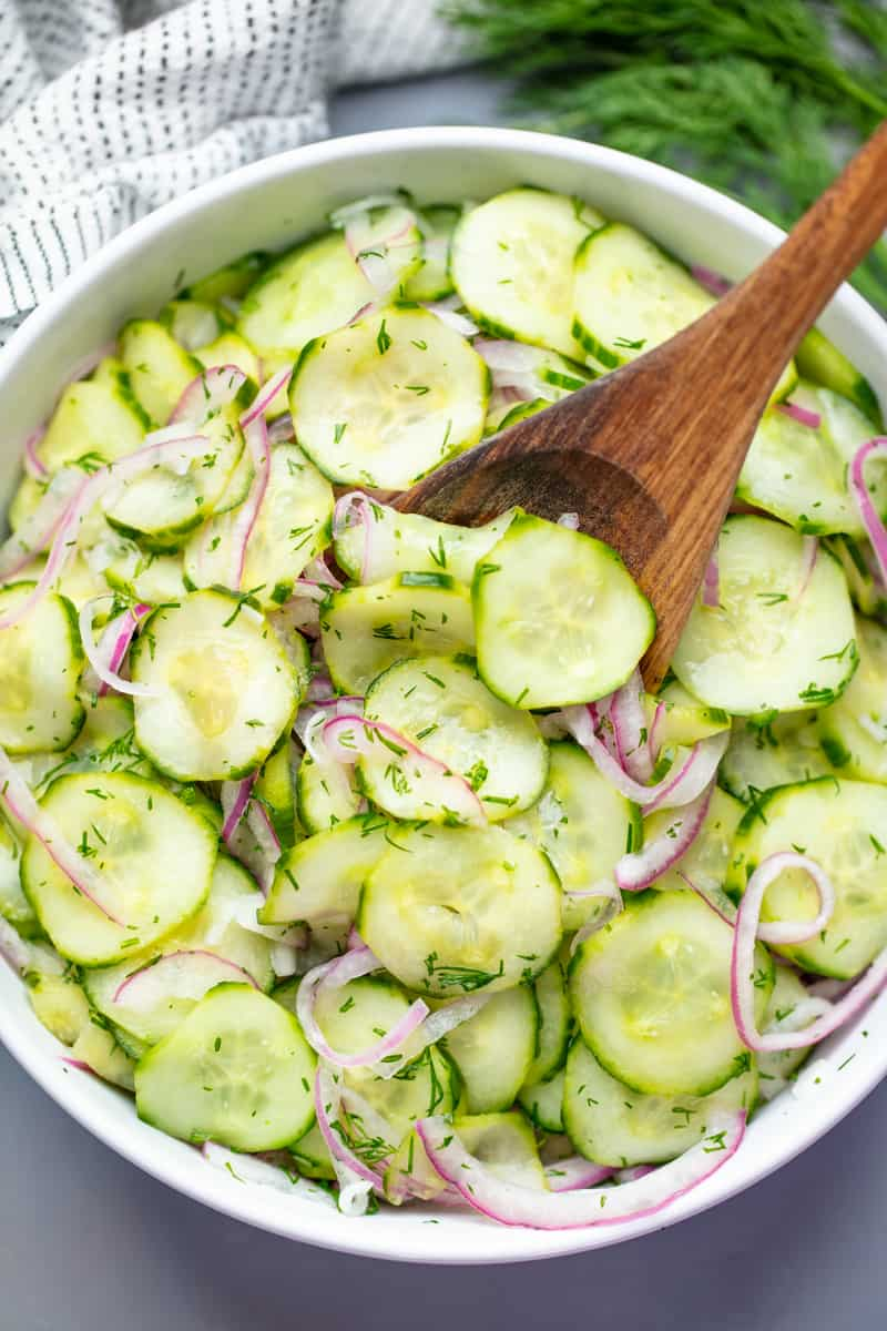 10. Easy Cucumber Salad with Fresh Dill