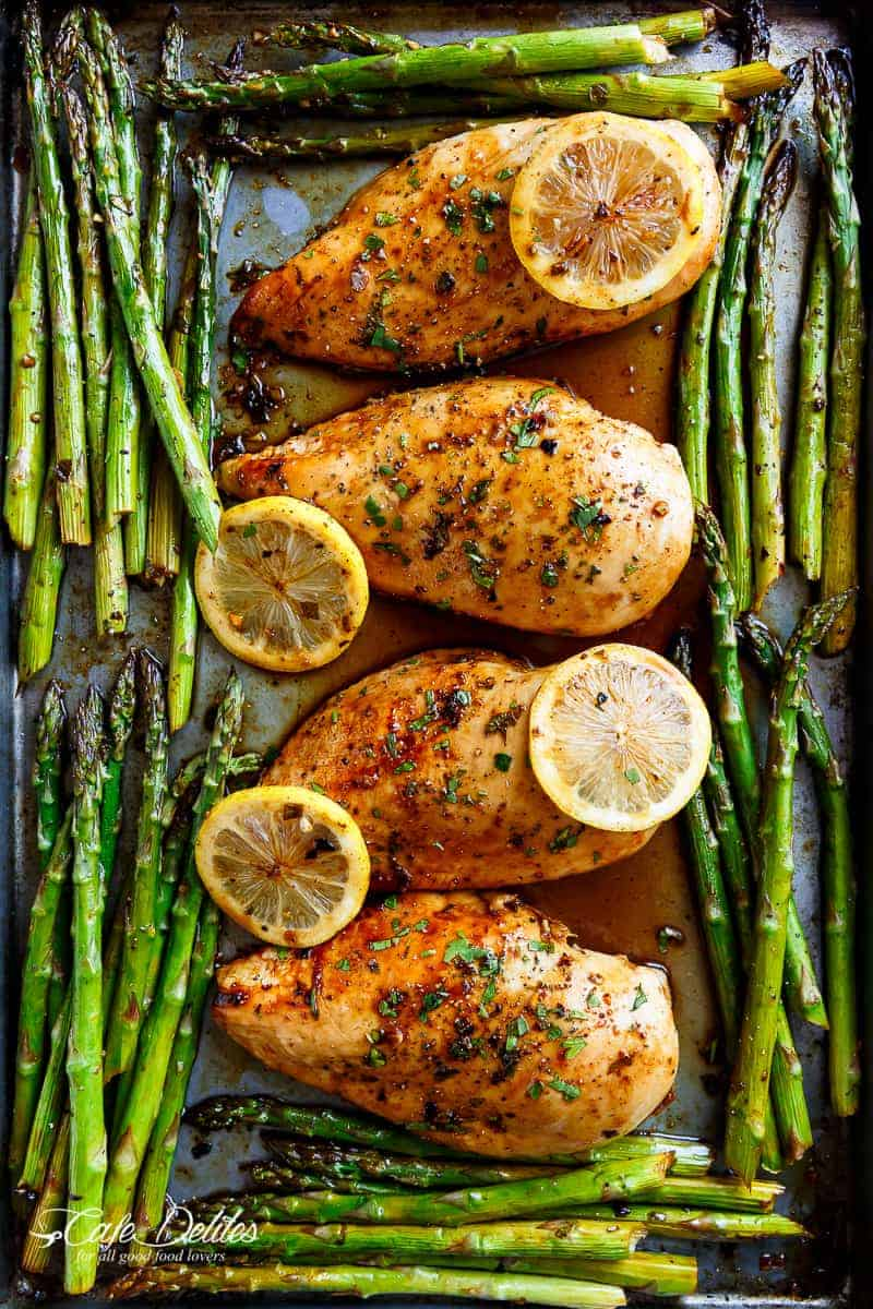 10. Honey Lemon Chicken and Asparagus