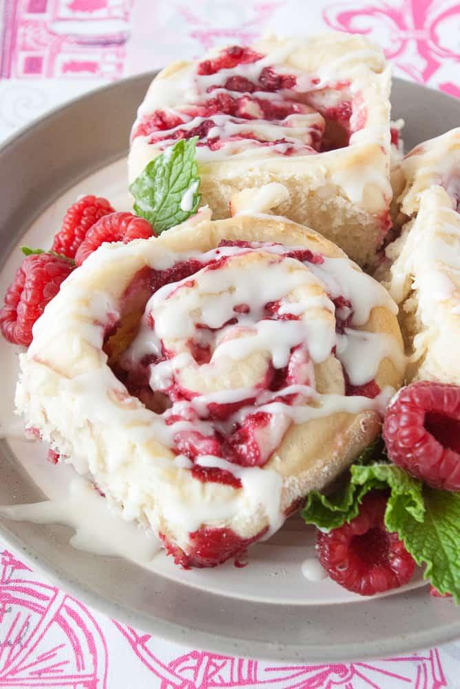 10. Raspberry Cheesecake Sweet Rolls