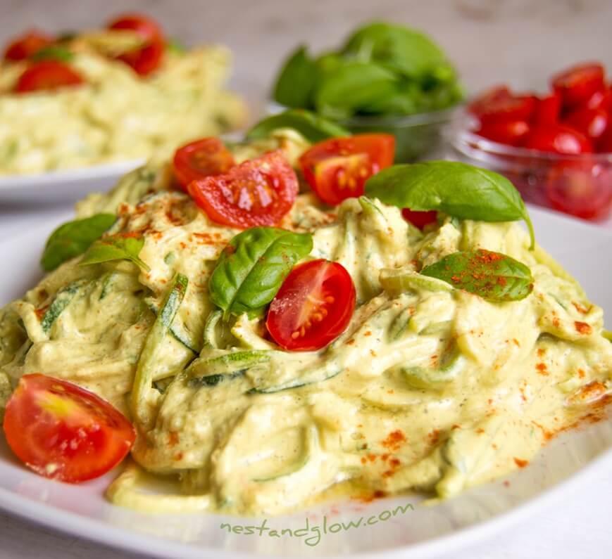 10. Sunflower Cheese Raw Courgetti