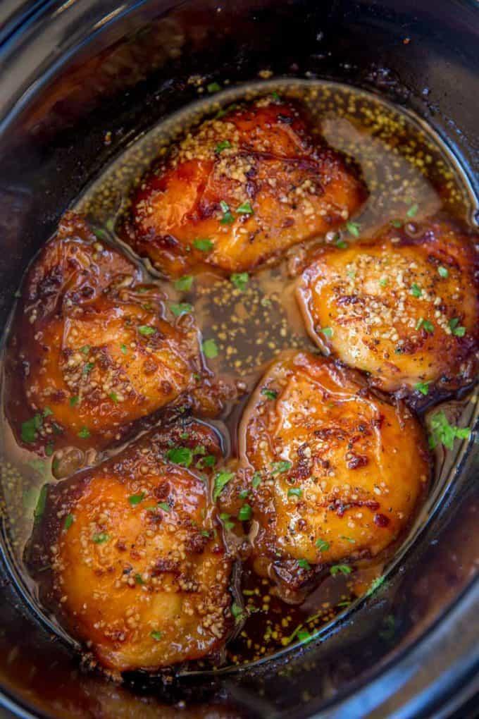 #11 5 Ingredient Slow Cooker Brown Sugar Garlic Chicken