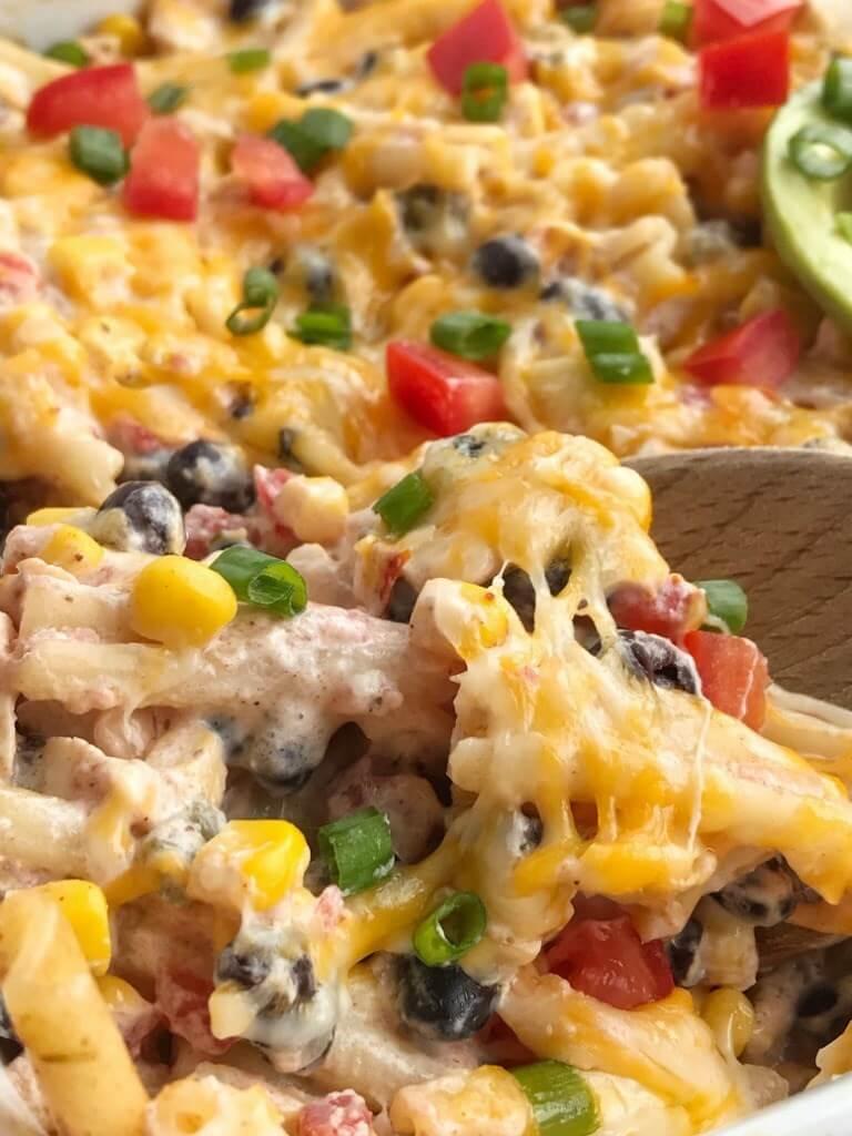 #11 Fiesta Chicken Pasta Casserole