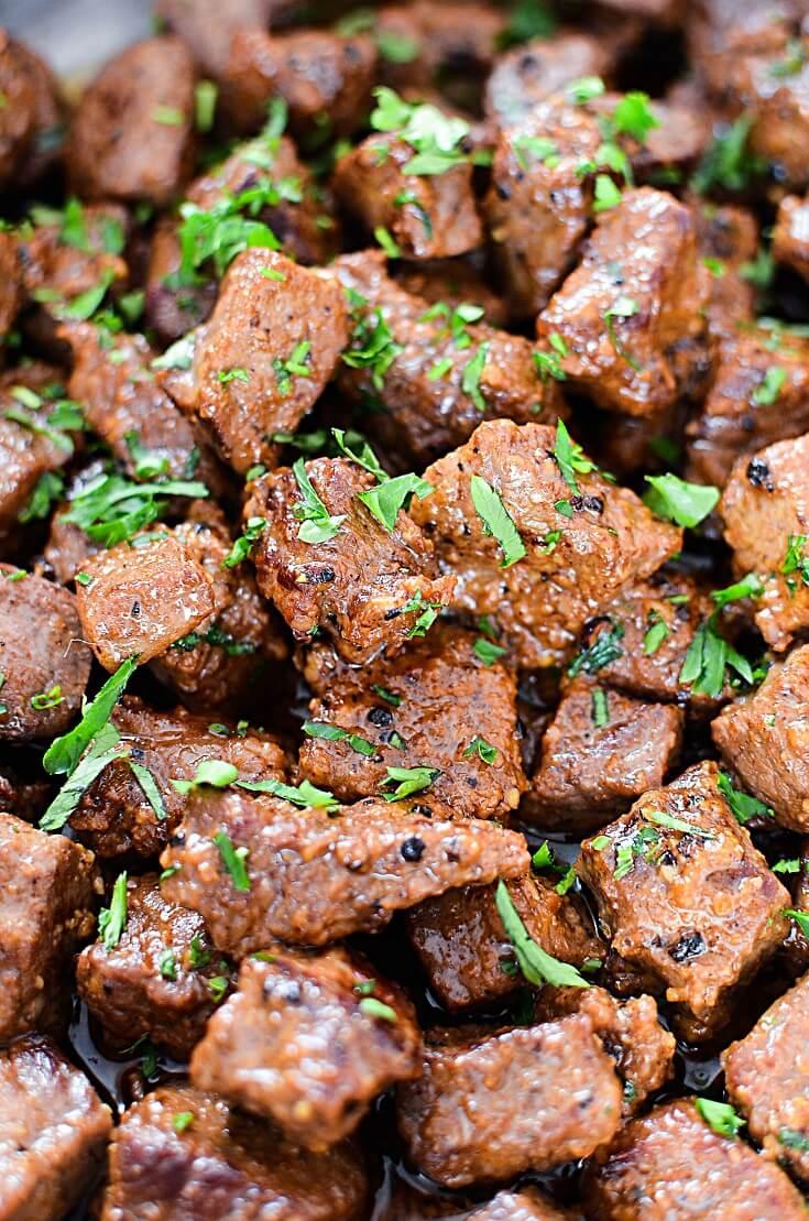 #11 Juicy Garlic Butter Steak Bites
