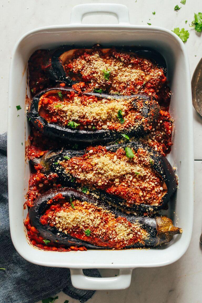 #11 Moroccan Lentil Stuffed Eggplants