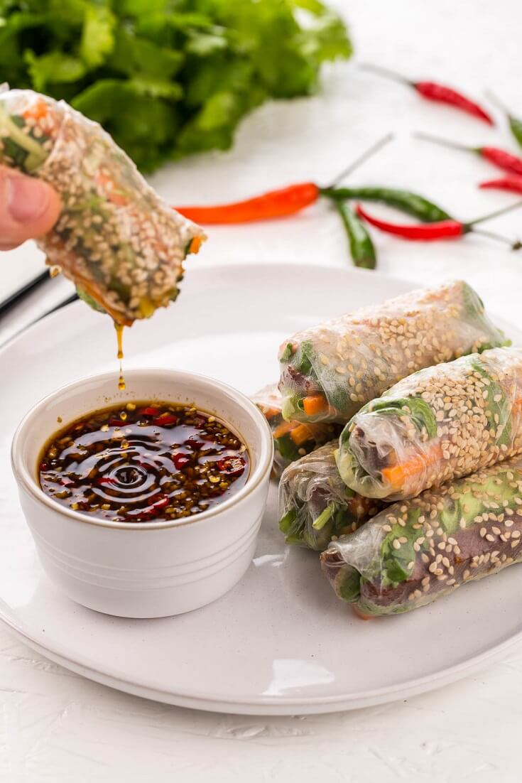 #11 Vietnamese Tofu Summer Rolls