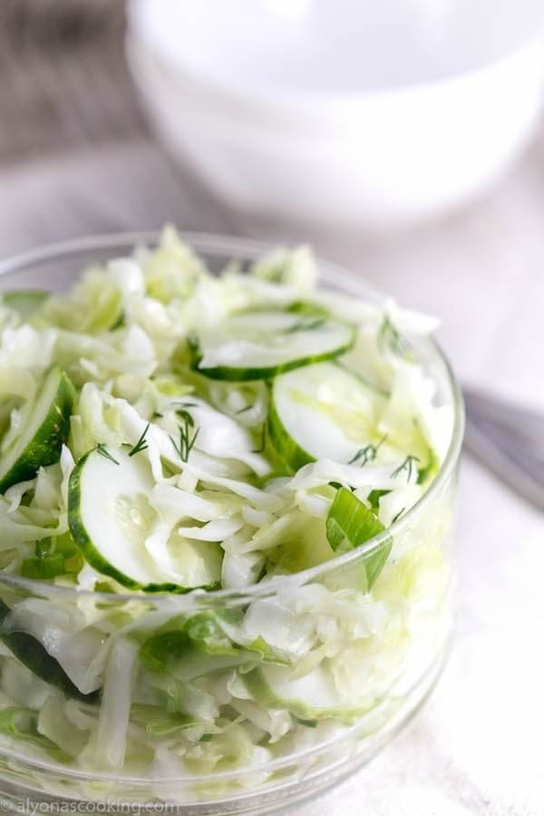 11. Cucumber Cabbage Salad