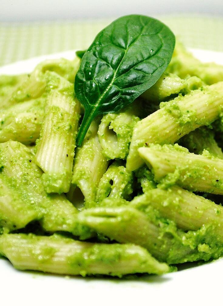 #12 Creamy Avocado Spinach Pasta