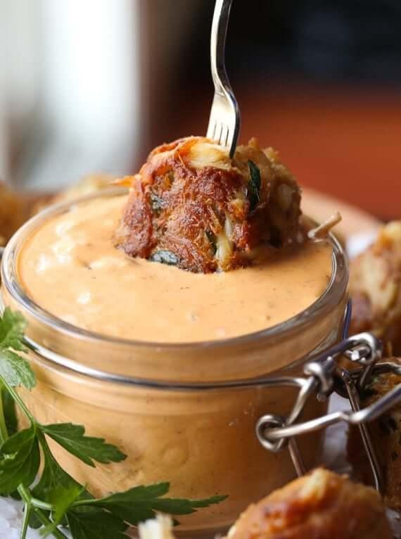 #12 Crispy Crab Balls with Chipotle Tartar Sauce
