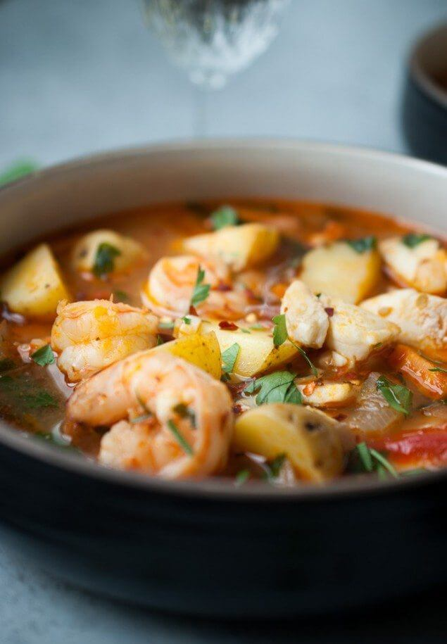 #12 Hearty Potato and Seafood Stew