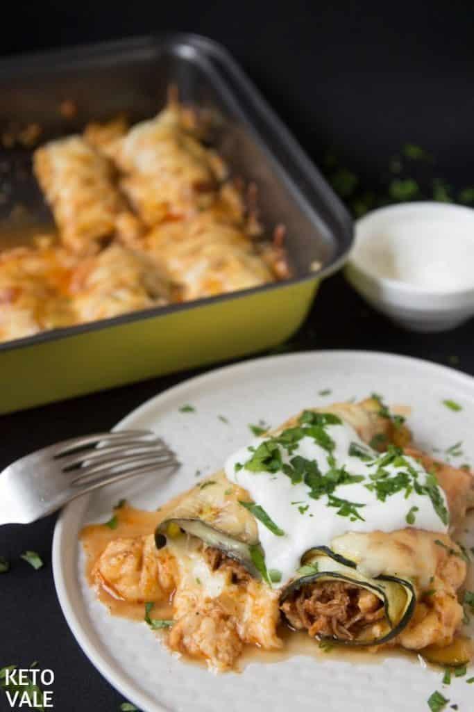#12 Keto Zucchini Chicken Enchiladas
