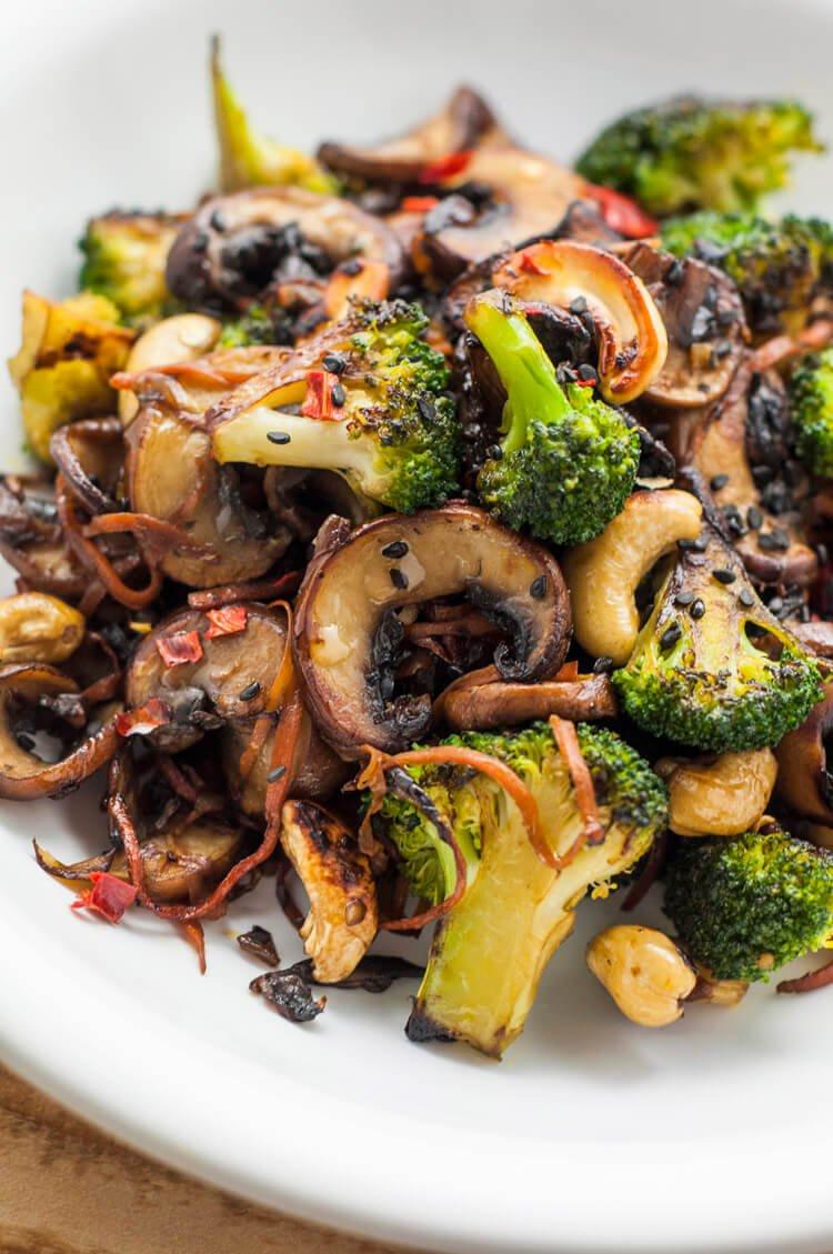 12. Broccoli and Mushroom Stir-Fry