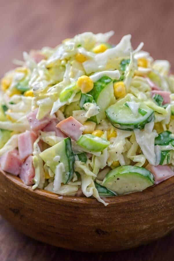 12. Cabbage Ham Salad