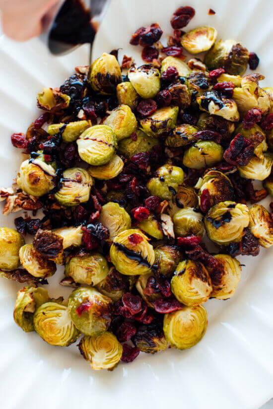 #13 Balsamic Roasted Brussels Sprouts with Cranberries & Pecans rv