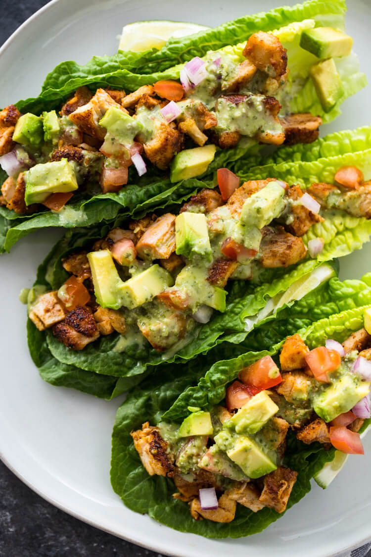 #13 Chicken Taco Lettuce Wraps