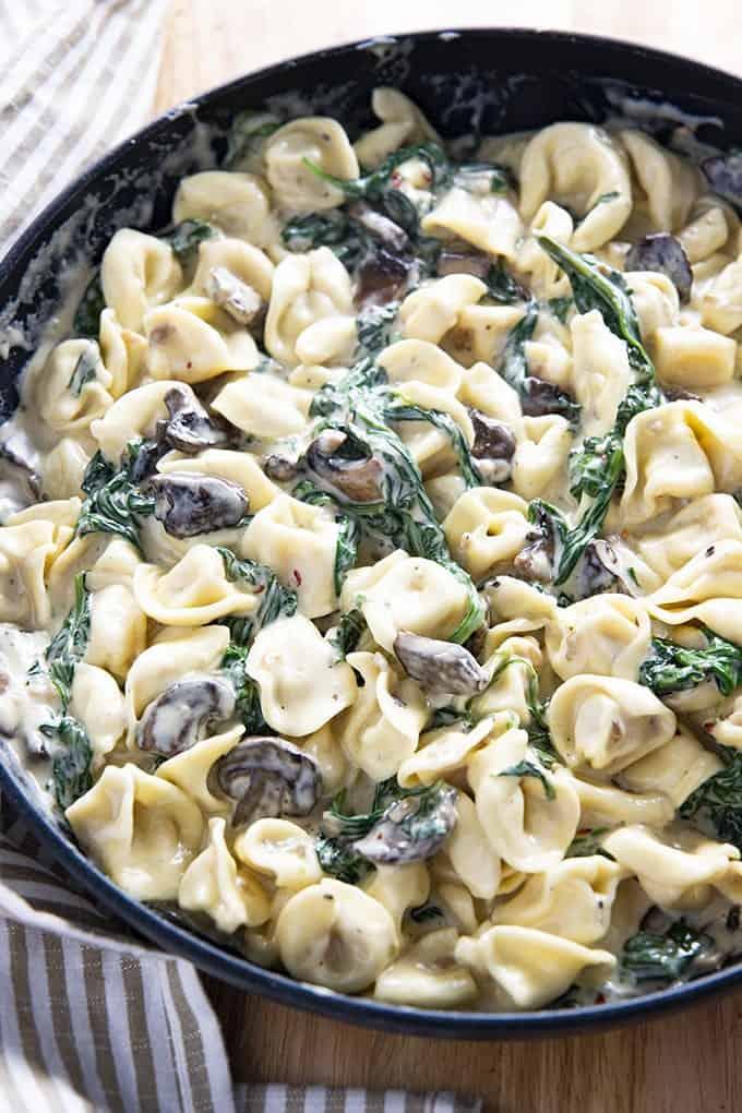#13 Creamy Spinach Mushroom Tortellini