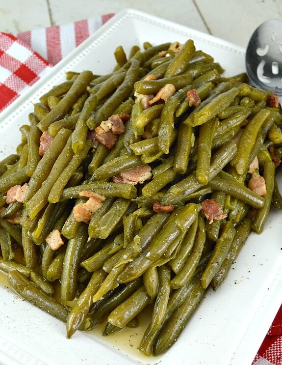 #13 Southern Style Green Beans with Bacon