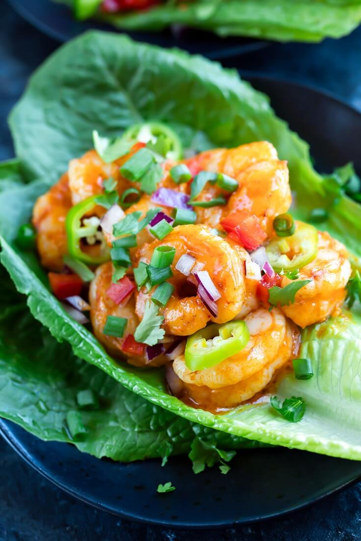 #14 Buffalo Shrimp Lettuce Wrap