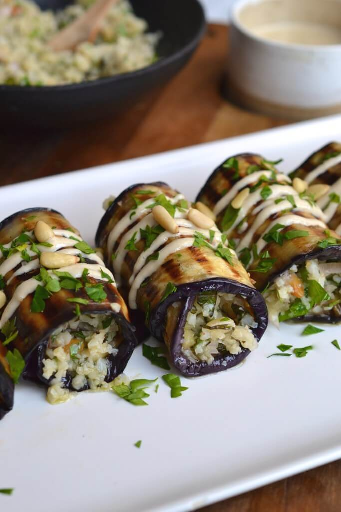 #14 Couscous Eggplant rolls