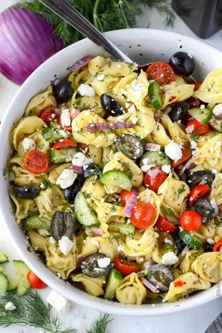 #14 Greek Tortellini Pasta Salad