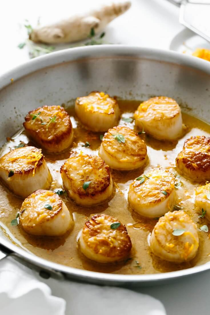 #14 Scallops with Citrus Ginger Sauce