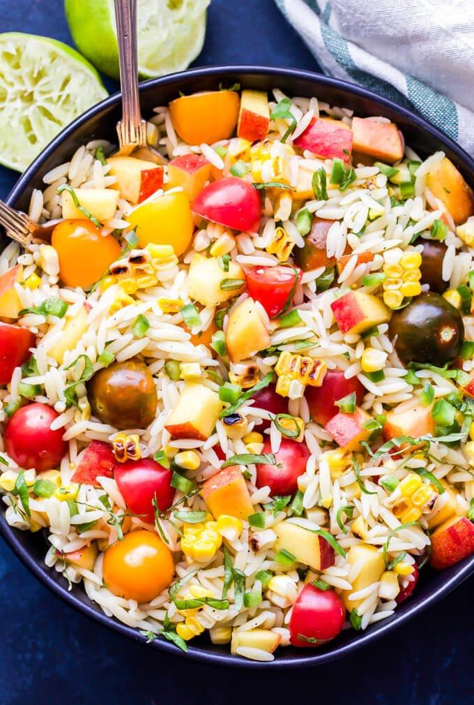 14 Summer Vegetable Orzo Salad
