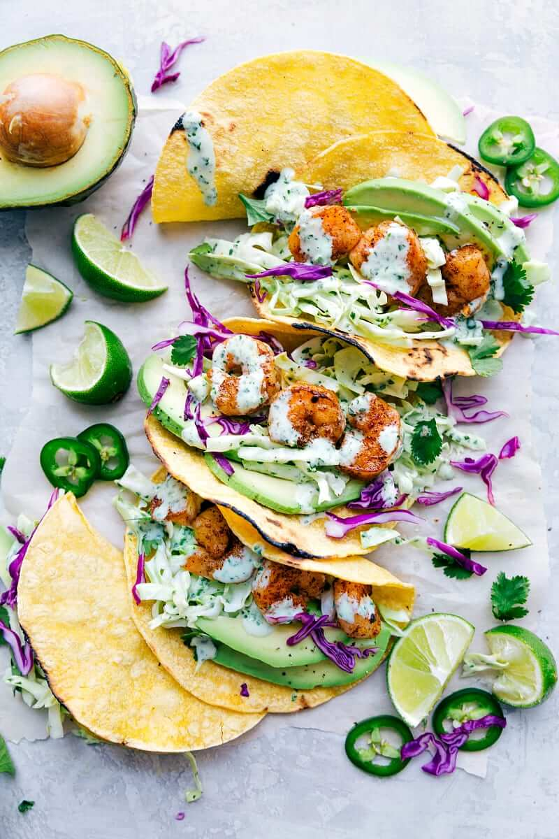 14. Avocado Shrimp Tacos
