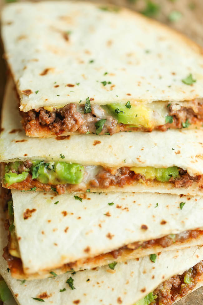 14. Cheesy Avocado Quesadillas
