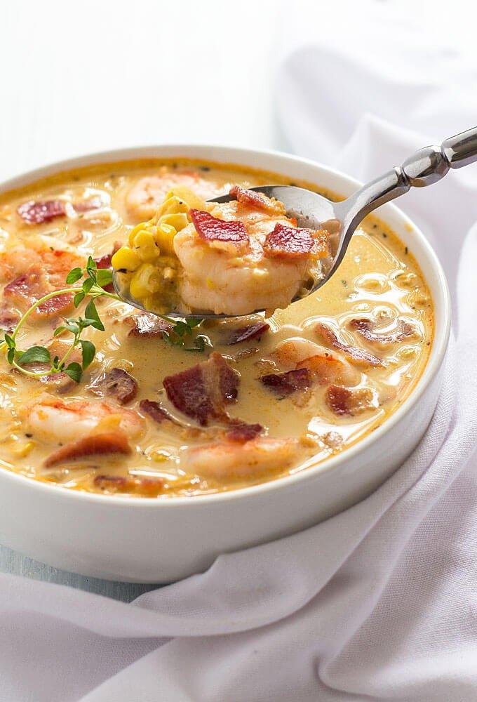 #15 Bacon, Shrimp and Corn Chowder
