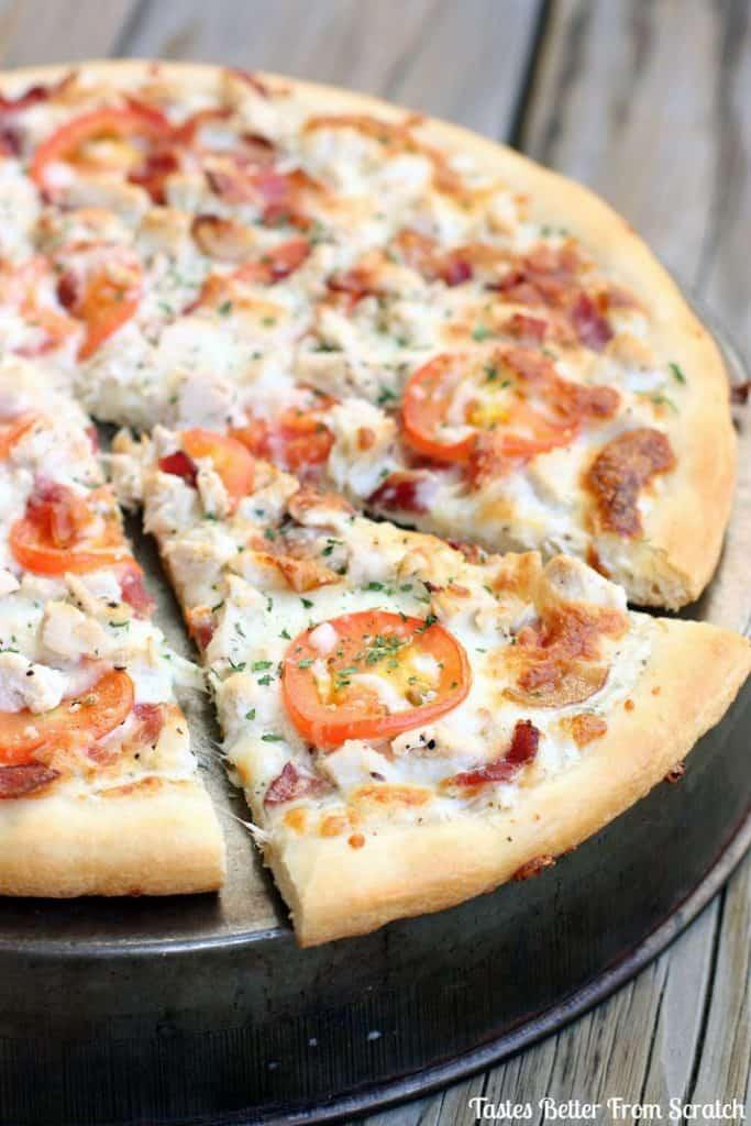 #15 Garlic Ranch Chicken Pizza
