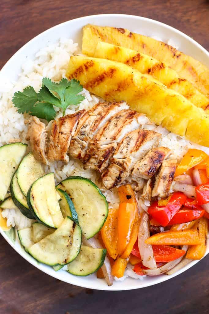 #15 Grilled Hawaiian Chicken Teriyaki Bowls